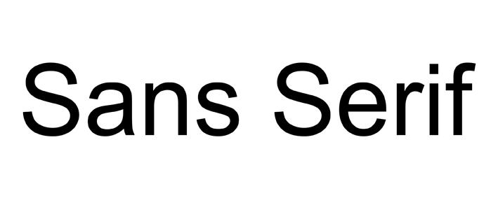 Jenis Font Sans Serif
