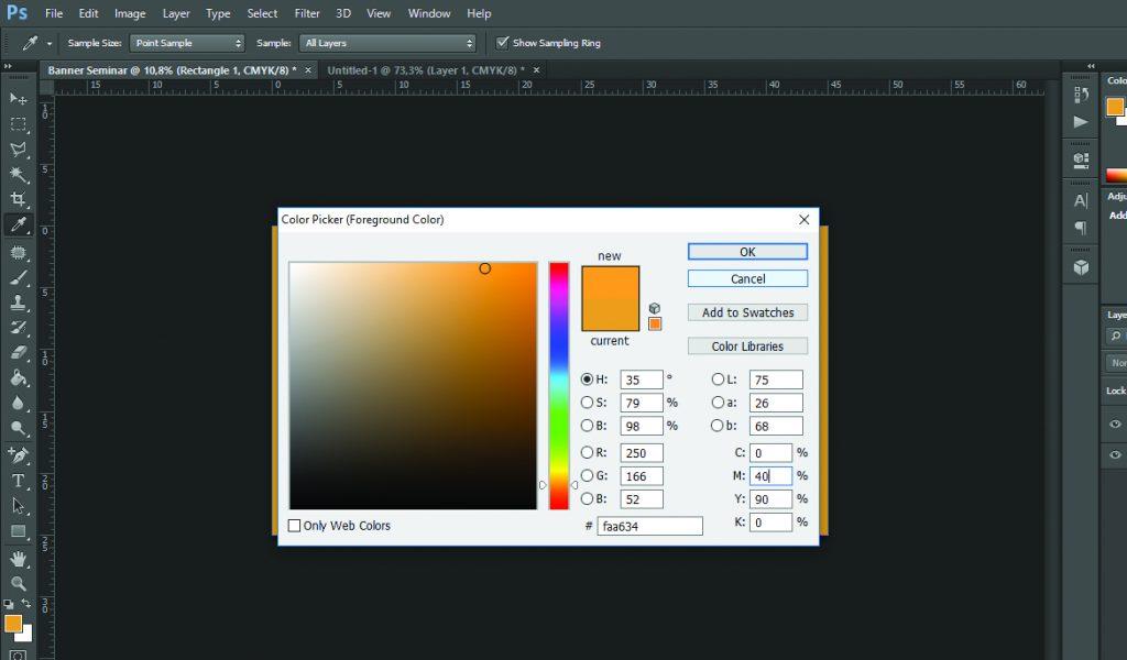 Color Picker untuk menentukan kode warna