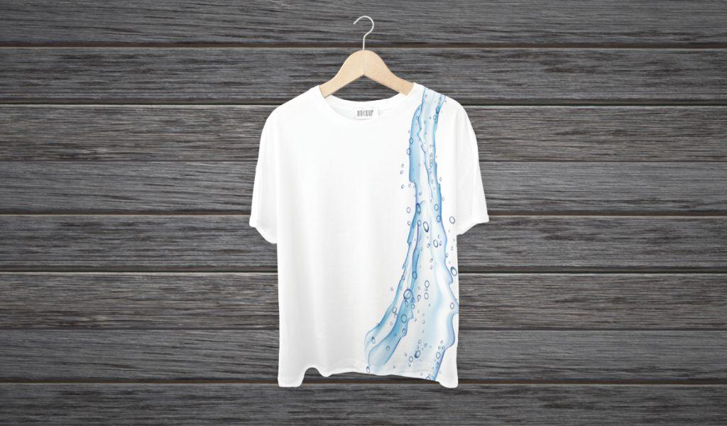 Desain Baju Kaos Keren Air Tumpah