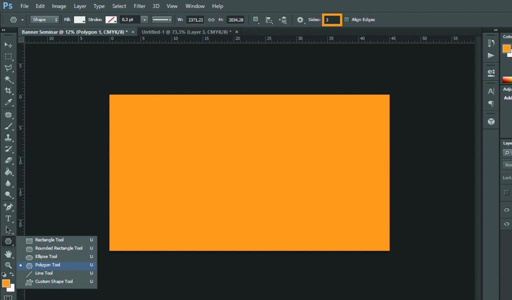 Desain Banner Polygon Tool
