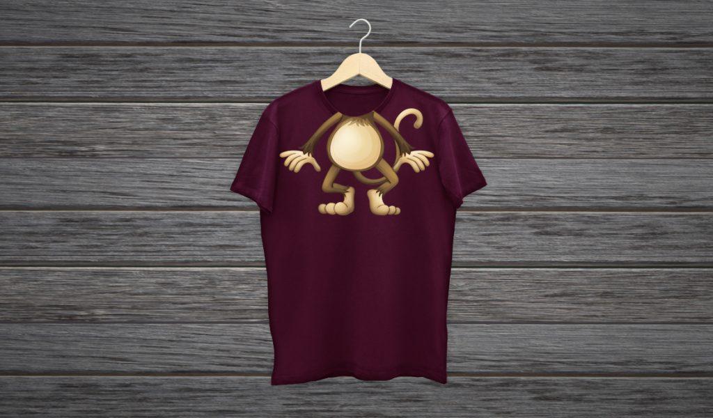 desain Baju Kaos Keren badan Binatang atau Karakter Komik